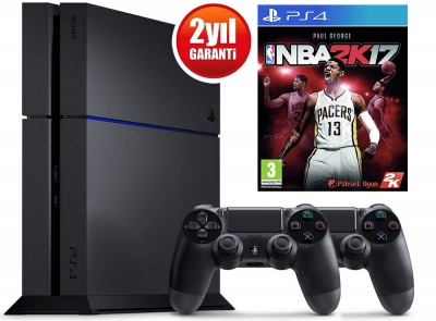 SONY PLAYSTATION 4 500GB + DS4 + NBA 2K17